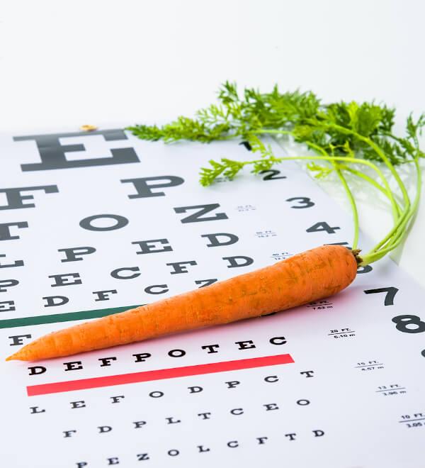 Zijn wortels echt goed voor je ogen?