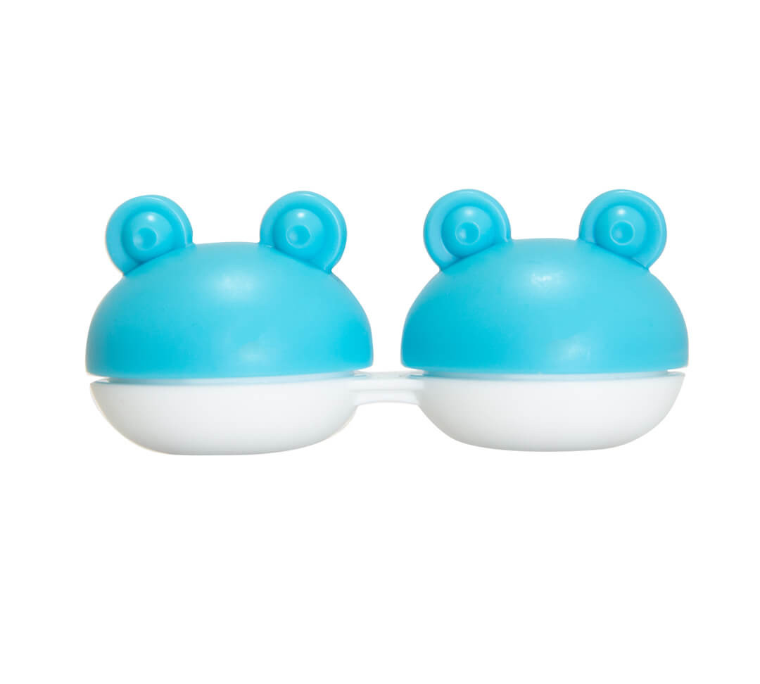 Blue Jumpy Jack Animal Contact Lens Case