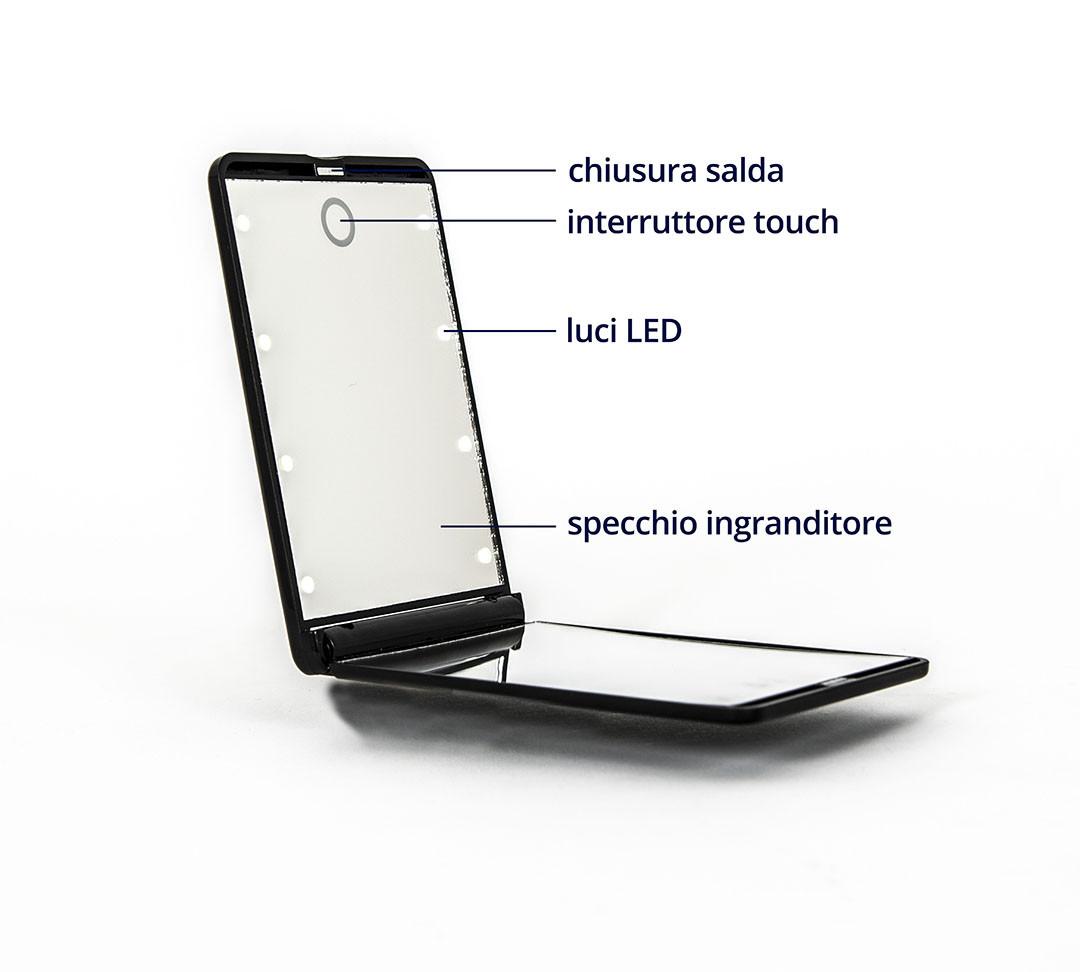 Specchio con luci a LED
