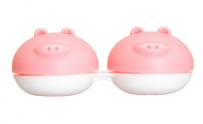 Étui pour lentilles de contact cochon