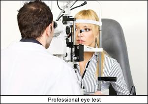 Examen de la vista profesional