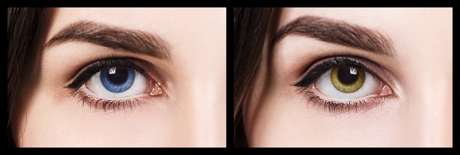 Stesso occhio di colori diversi