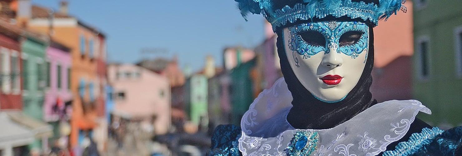 Maschera di carnevale a Venezia