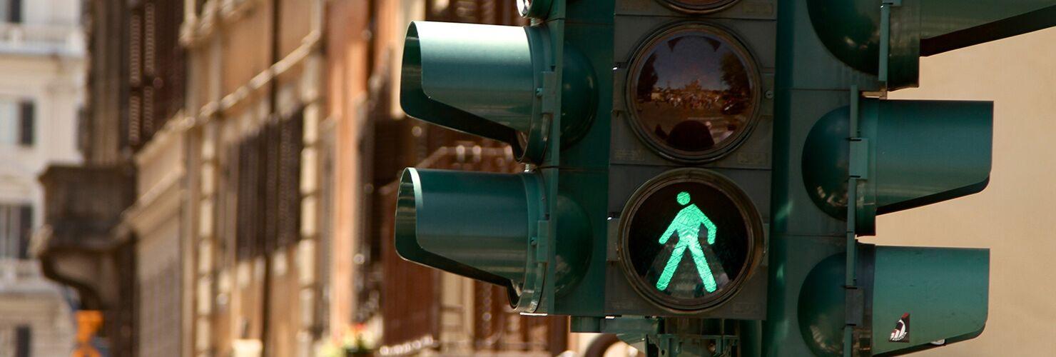 Semaforo acceso sul verde