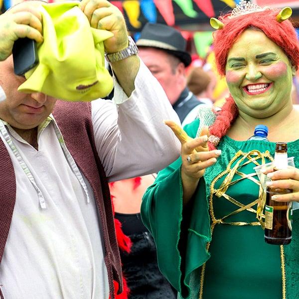 Disfraz en pareja: Fiona y Shrek