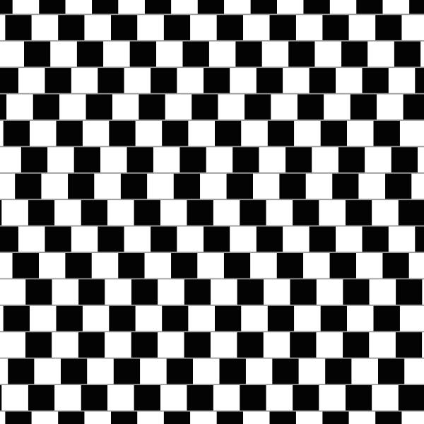 Ilusión óptica- Pared de cafetería