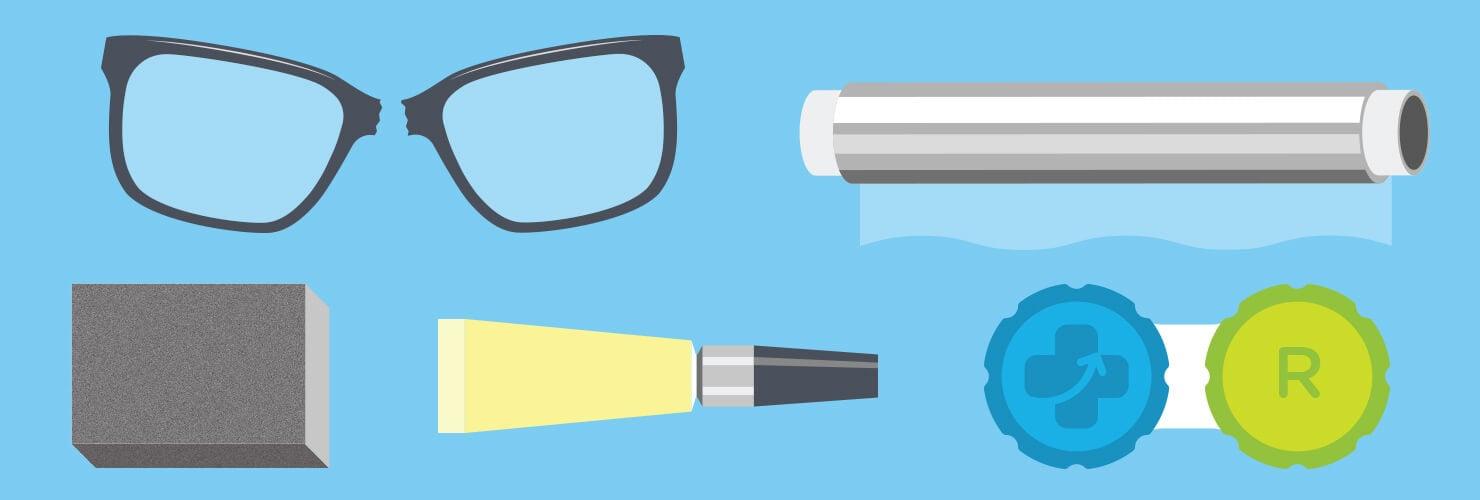 Réparer lunettes cassées