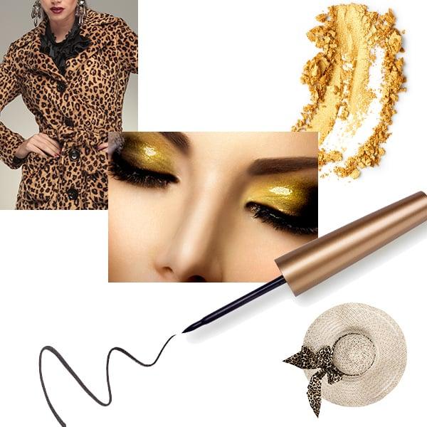 Leopard print trend moodboard