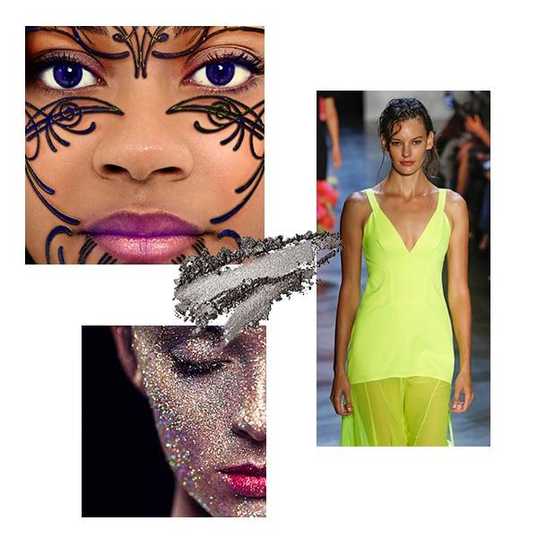 Fashion week lentilles violettes