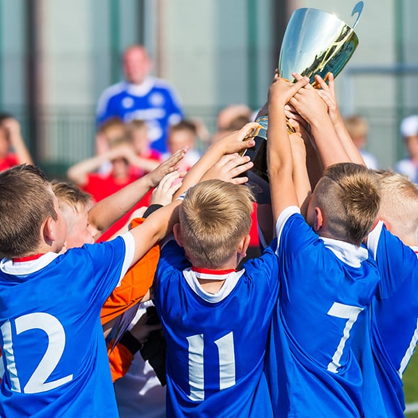 School football team wins trophy