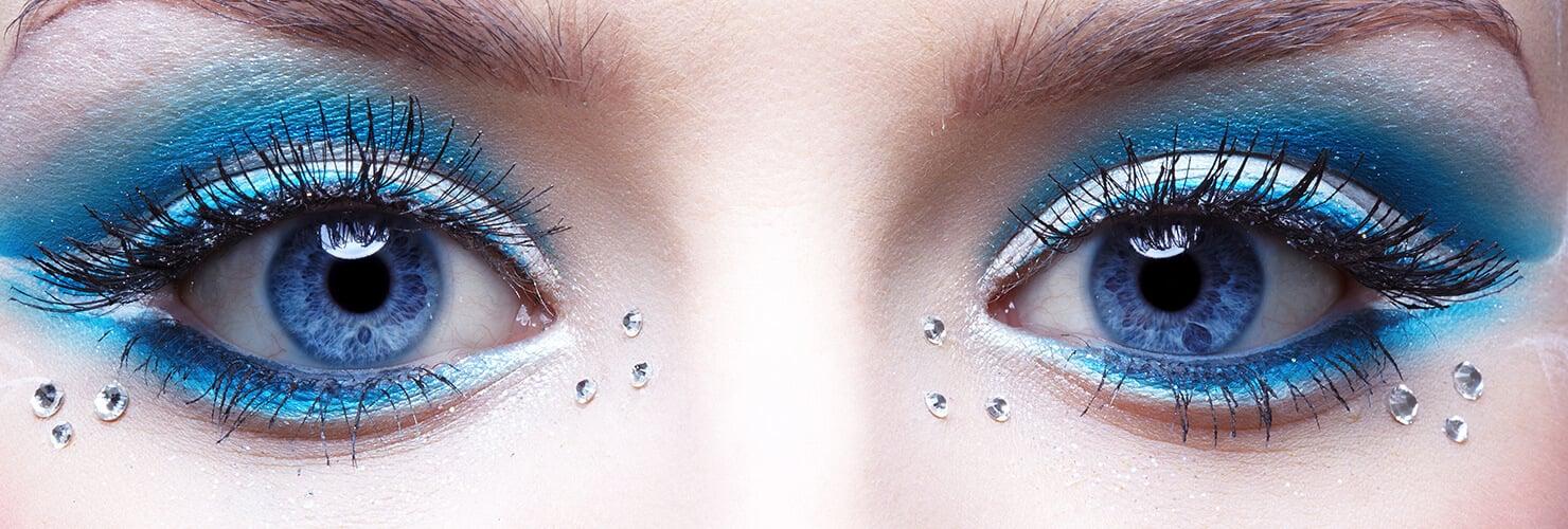 Feestelijk opgemaakte ogen