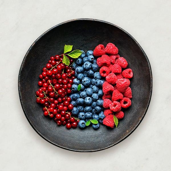Frutos rojos -vitamina K, C