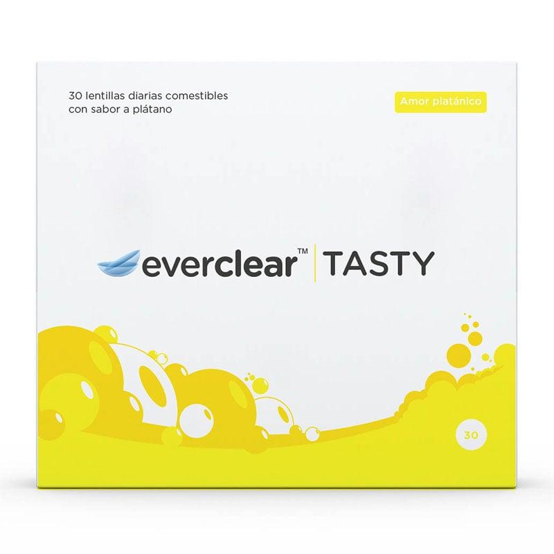 Caja de las lentillas everclear TASTY sabor Amor platánico