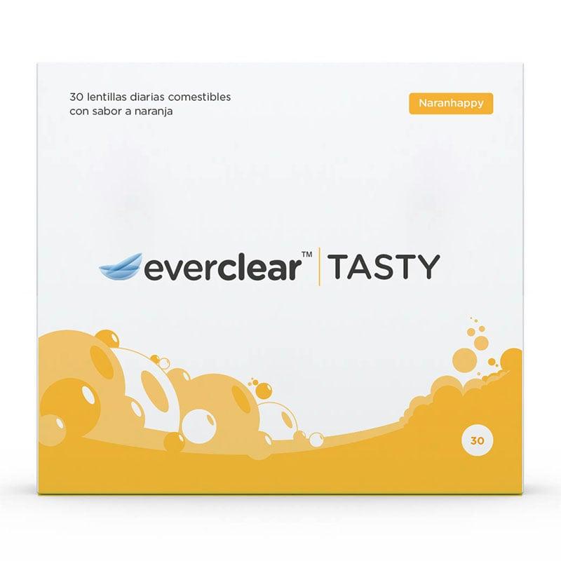 Caja de las lentillas everclear TASTY sabor Naranhappy
