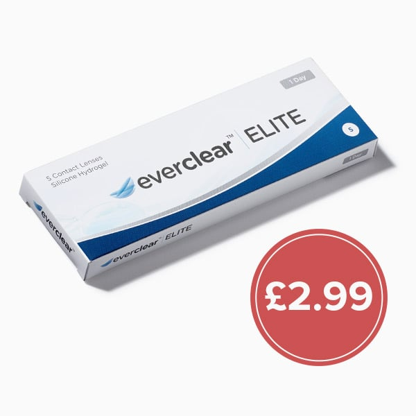everclear elite contact lenses trial box promotional banner