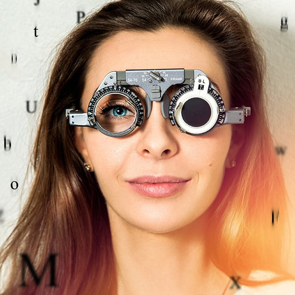 Gauge eye test