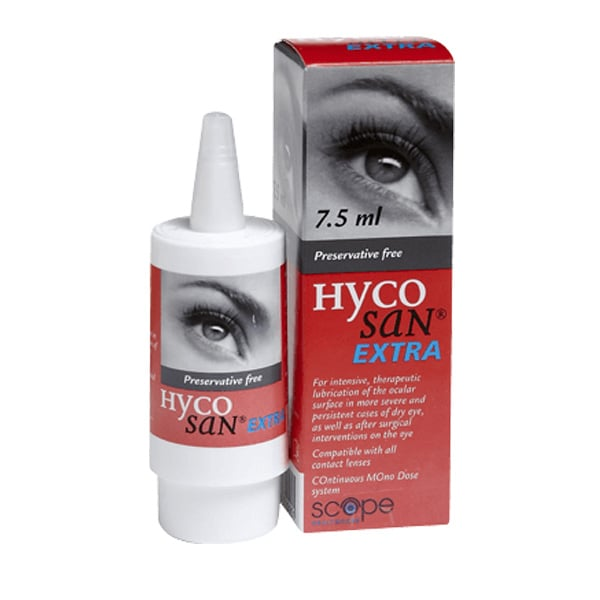 Hycosan Extra Eye Drops bottle
