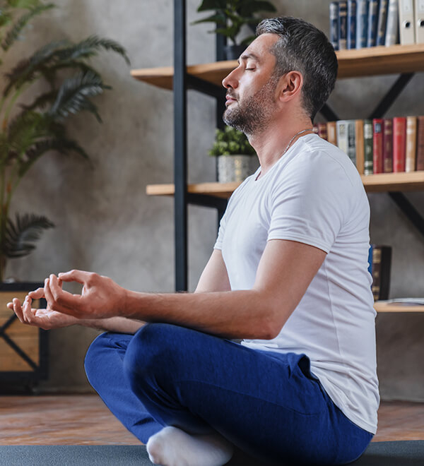 Man doing a yoga pose