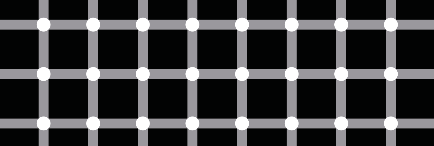 Dots and lines illusion