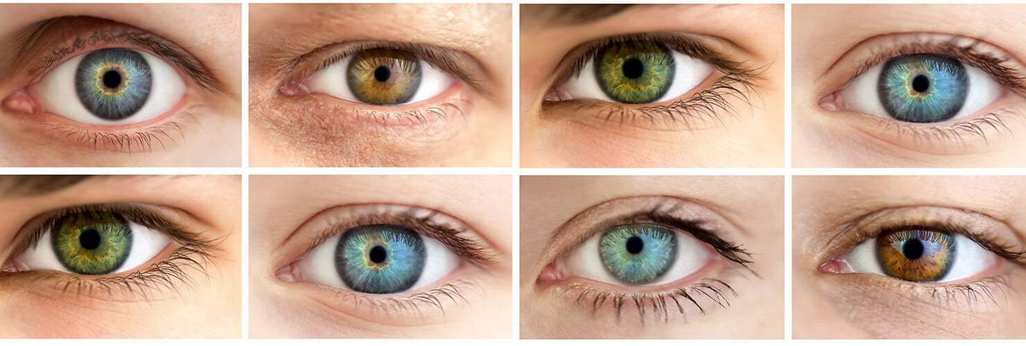 Verschillende kleuren ogen