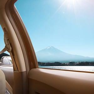 sunny outside car window