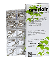Amiclair contact lens cleaning tablets