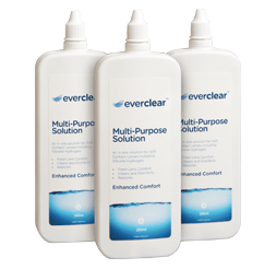 Vision Direct Everclear multi-purpose contact lens solution - 3 pack