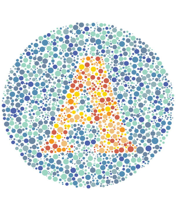 An Ishihara colour test