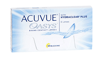 Acuvue Oasys is our most popular weekly lens