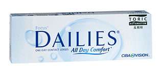 Focus Dailies Toric are our most popular daily toric lens