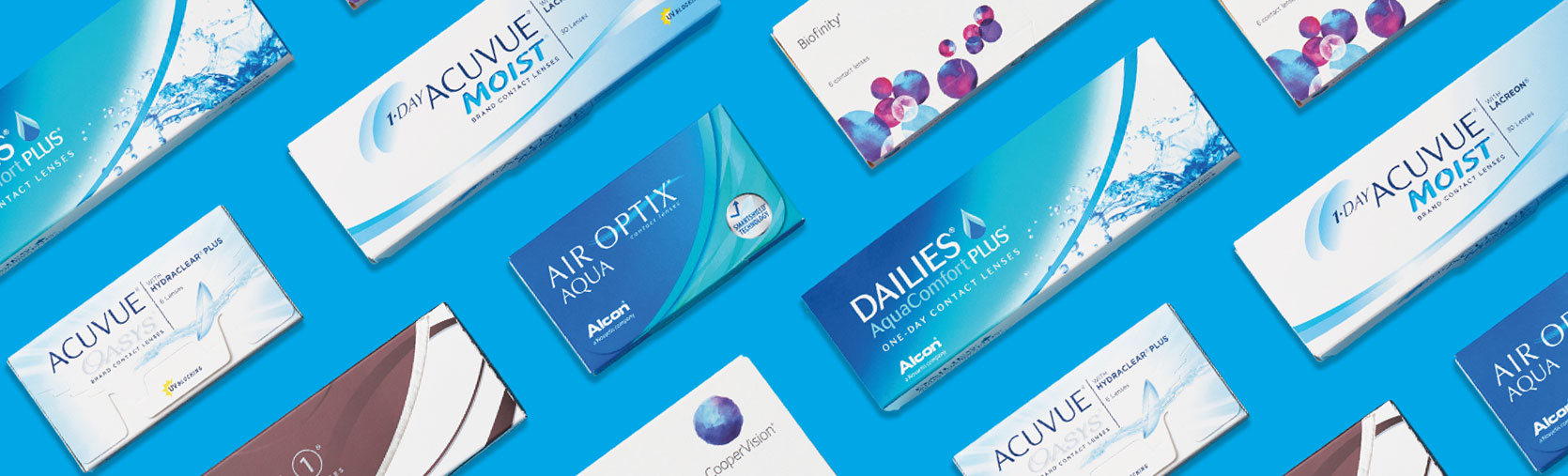 Contact lens boxes