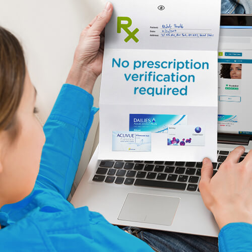 No prescription verification required