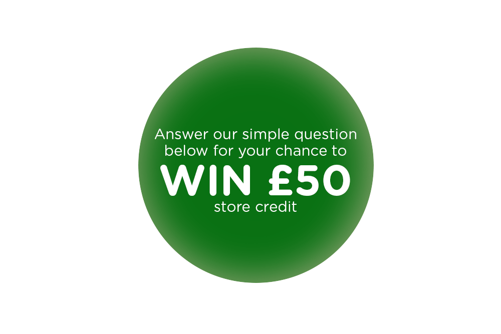 3 chances to win £50 store credit