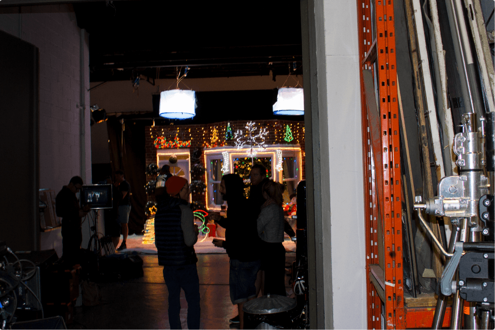 Behind the scenes of or Christmas ad