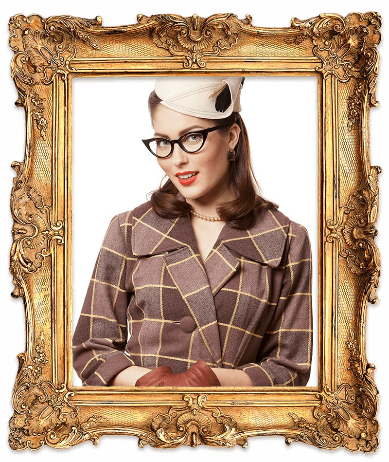 Cat eye glasses (1940s) Glasses