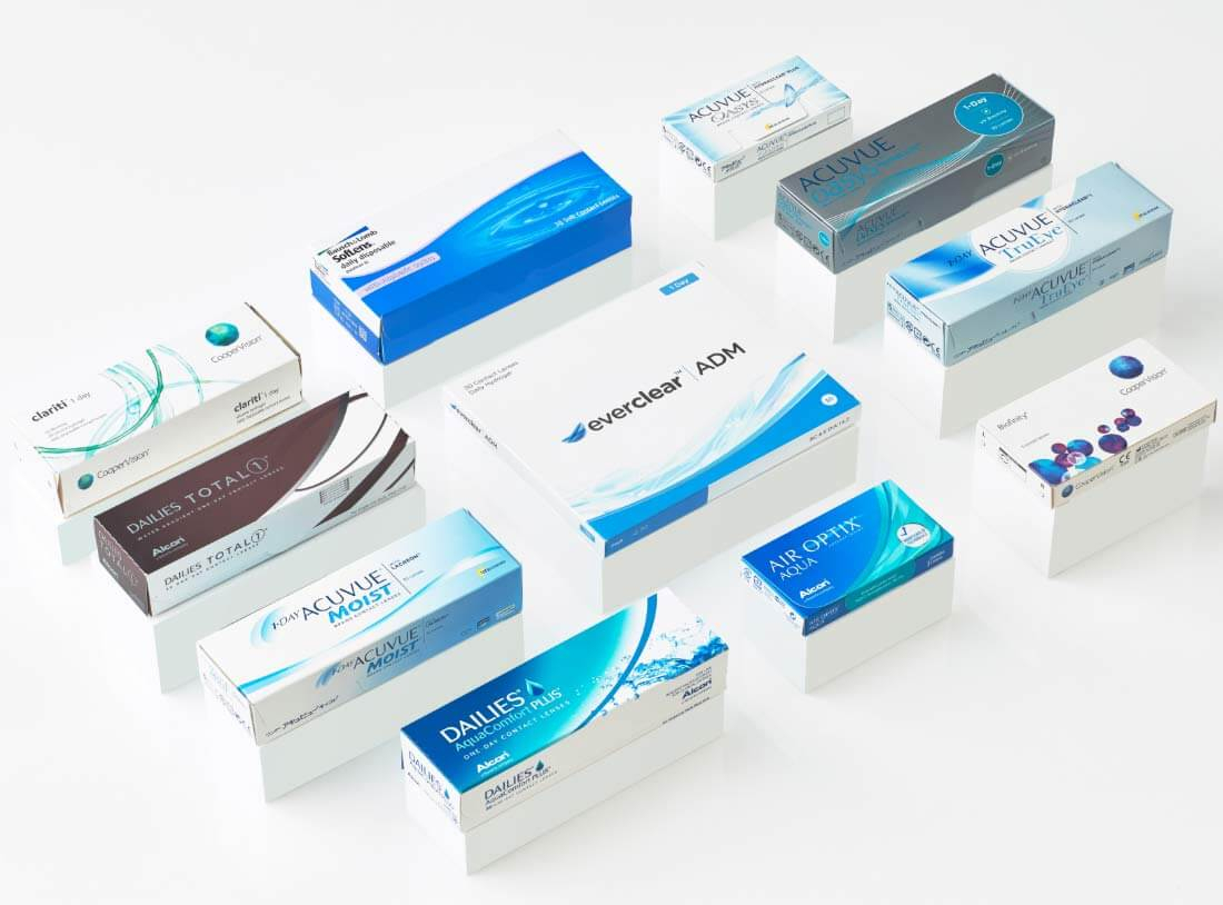 Boxes of contact lenses