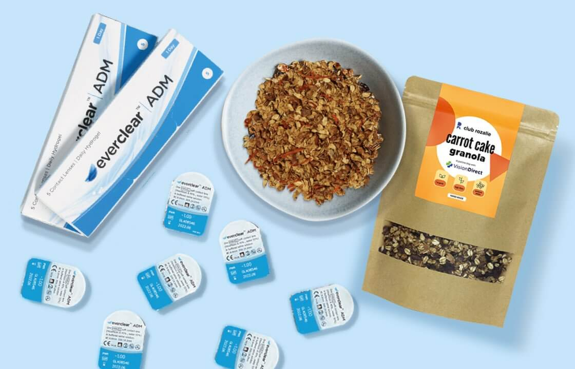 FREE contact lenses and FREE granola