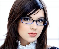 women's colourful glasses