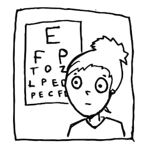 Visitando al óptico